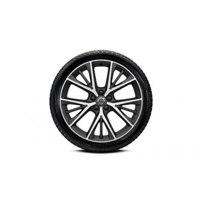 """Complete wielen, zomer """"5-trippelspaaks Matt Tech Black Diamond Cut"""" 8,5 x 19"""", Continental banden, incl. Twin Engine"""