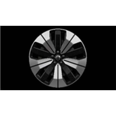"Aluminium velgenset ""5-dubbelspaaks Black Diamond Cut"" 19"""