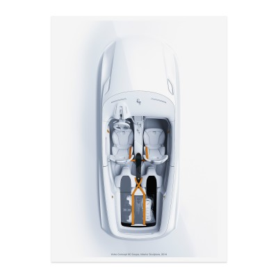 Concept XC Coupe Interior Sculpture Poster