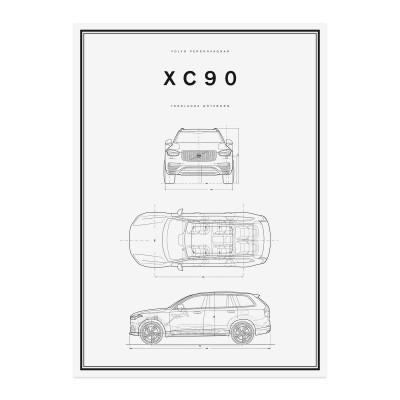 XC90 Lijntekening Poster