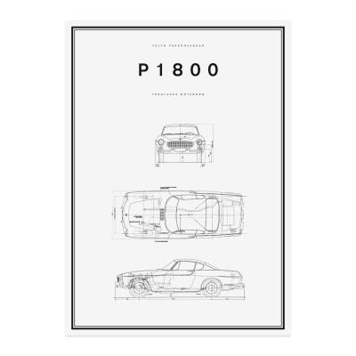 P1800 Lijntekening Poster