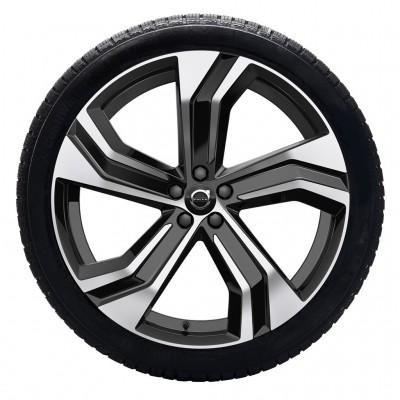 """Complete wielen, winter """"5-dubbelspaaks Black Diamond Cut"""" 9 x 22"""", incl. Twin Engine"""