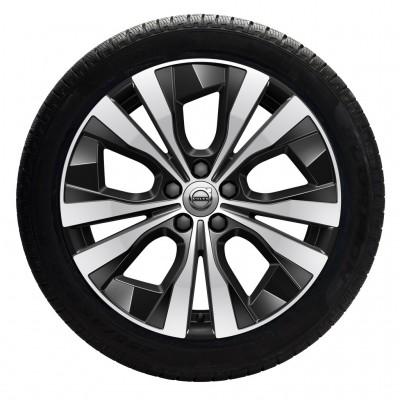 """Complete wielen, winter """"5-dubbelspaaks Black Diamond Cut"""" 7,5 x 18"""", incl. Twin Engine"""