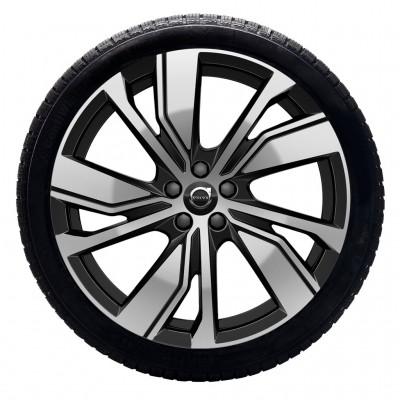 """Complete wielen, winter """"5-dubbelspaaks Black Diamond Cut"""" 20"""", Pure electric"""