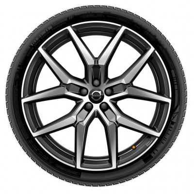 "Complete wielen, winter ""5-Y spaaks Black Diamond Cut"" 8 x 20"", Polestar Engineered"
