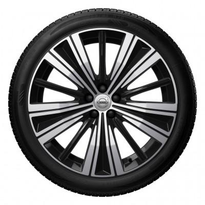 """Complete wielen, winter """"5-Multi spaaks Black Diamond Cut"""" 8 x 20"""", incl. Twin Engine"""