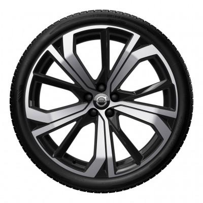 """Complete wielen, winter """"5-dubbelspaaks Black Diamond Cut"""" 8,5 x 21"""", incl. Twin Engine"""