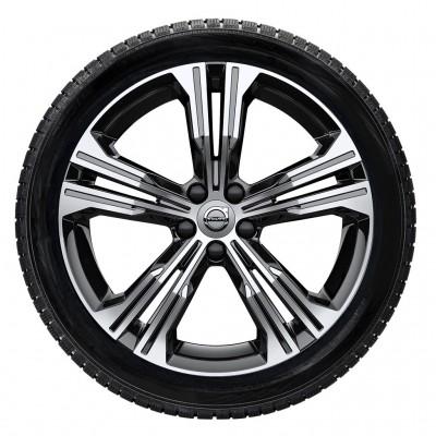 """Complete wielen, winter """"5-dubbelspaaks Black Diamond Cut"""" 7,5 x 19"""""""