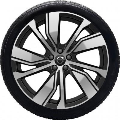 """Complete wielen, winter """"5-dubbelspaaks Black Diamond Cut"""" 8 x 20"""", Pure electric"""