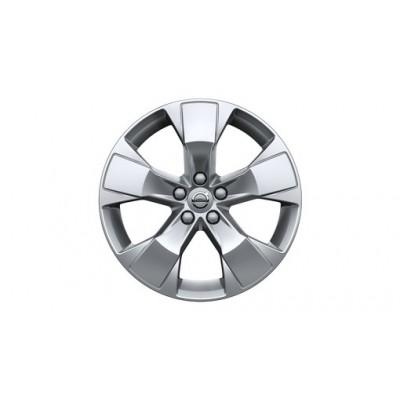 "Aluminium velgenset ""5-spaaks Silver"" 7,5 x 18"""