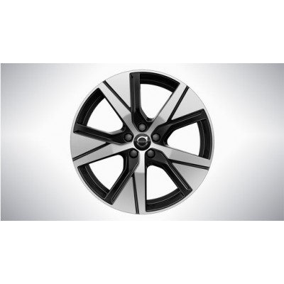 """Complete wielen, winter """"5-spaaks Black Diamond Cut"""" 19"""", Pure electric"""
