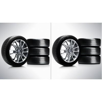 """Complete wielen, zomer """"Freja"""" 7 x 17"""", Pirelli banden"""