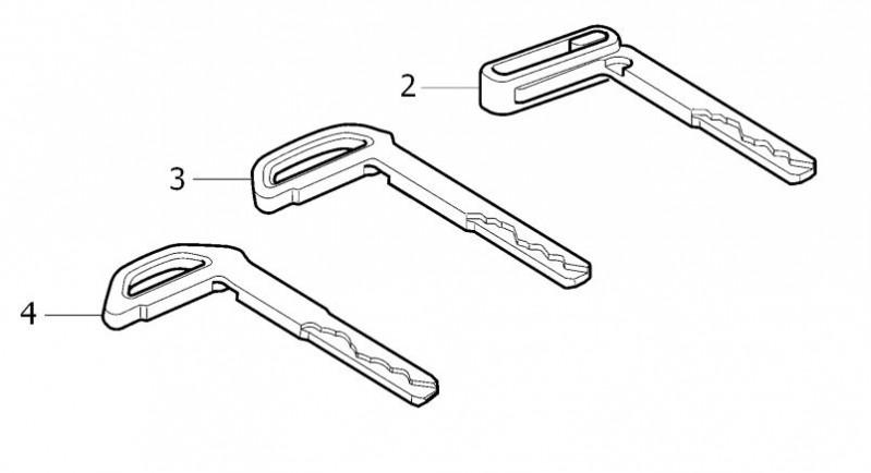 Afneembare metalen sleutelblad