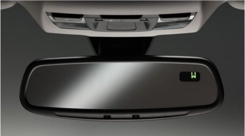 Achteruitkijkspiegel, binnen, automatische antiverblindingsregeling, met kompas