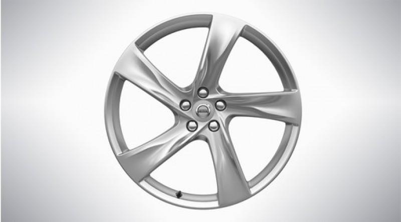 "Aluminium velgenset ""5-spaaks Fan Silver Bright"" 8,5 x 21"""