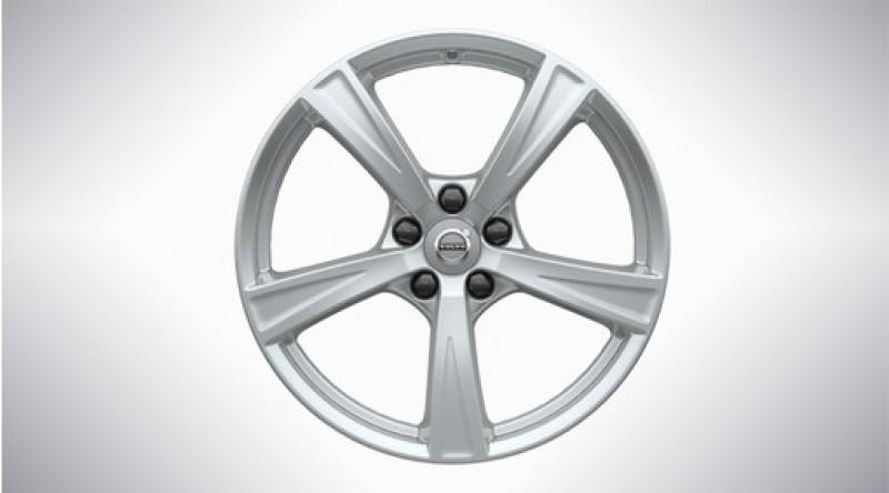"Aluminium velgenset ""5-spaaks Sparkling Silver"" 8 x 18"", excl. T8"