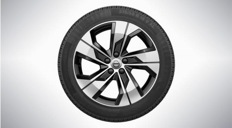 """Complete wielen, winter """"5-spaaks Black Diamond Cut"""" 7,5 x 18"""""""