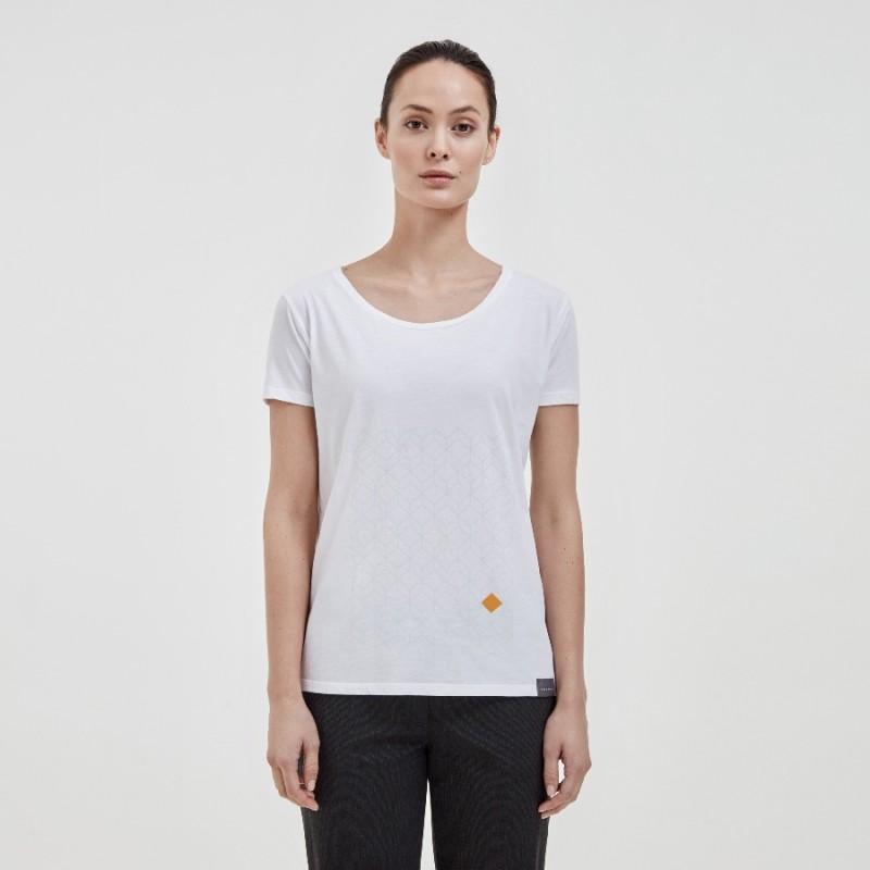 Dames T-shirt Diamant Patroon