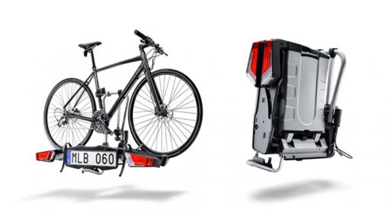 Opklapbare fietsdrager voor trekhaak, 2 fietsen