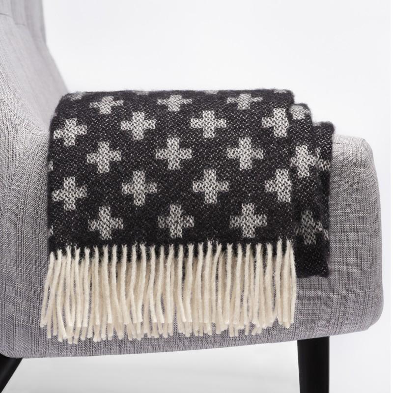 Luxe winterwollen plaid Klippan