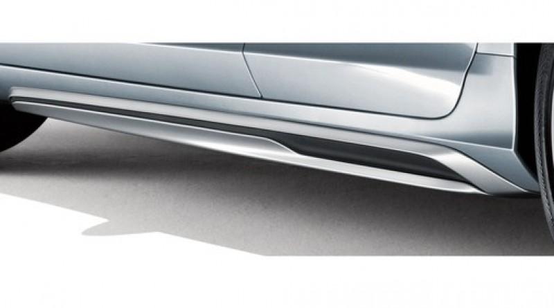 Side scuff plate, Silver