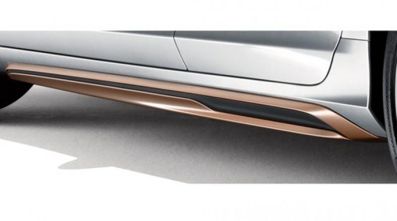 Side scuff plate, Terra bronze