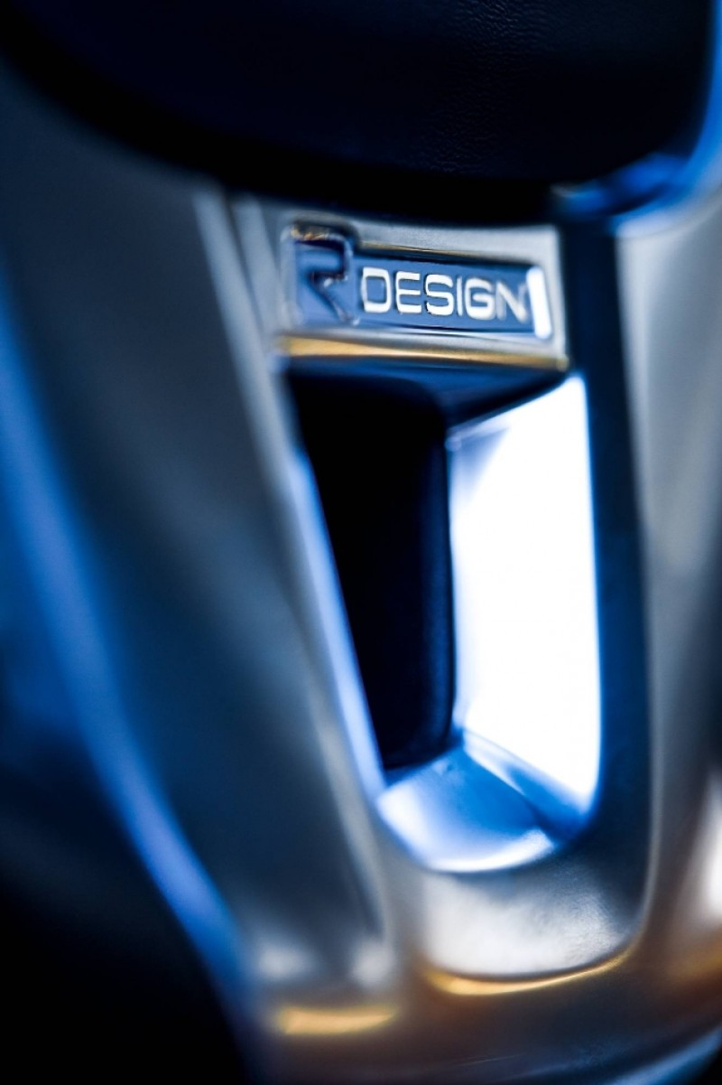 Stuurwiel inleg, Silk metal, R-design