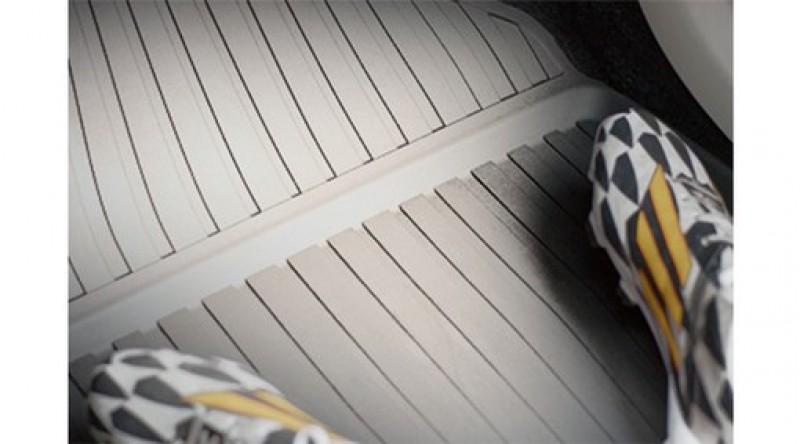 Mat, vloer passagiersruimte, rubber, Blond